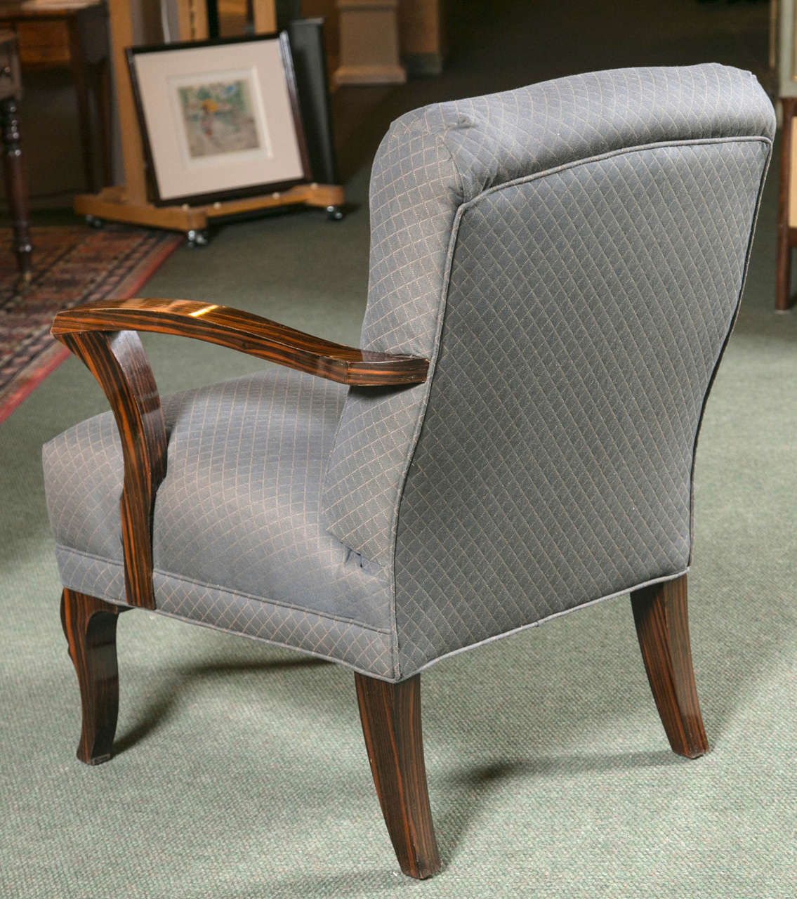 Pair of Art Deco Armchairs For Sale 3