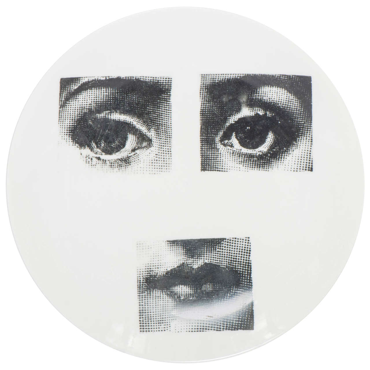 "Piero Fornasetti ""Tema e Variazione"" Porcelain plate number 28, Italy 1960"