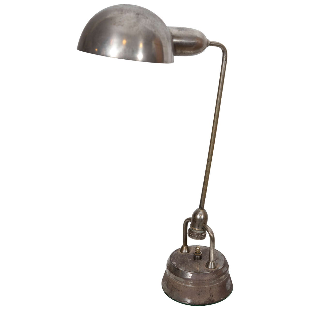 Charlotte Perriand chrome table lamp for Jumo