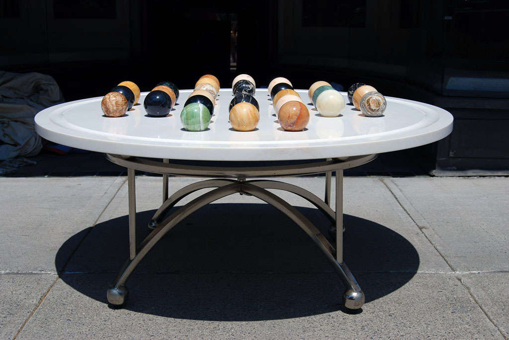 A Vintage Italian Marble Game Table Coffee Table At 1stdibs