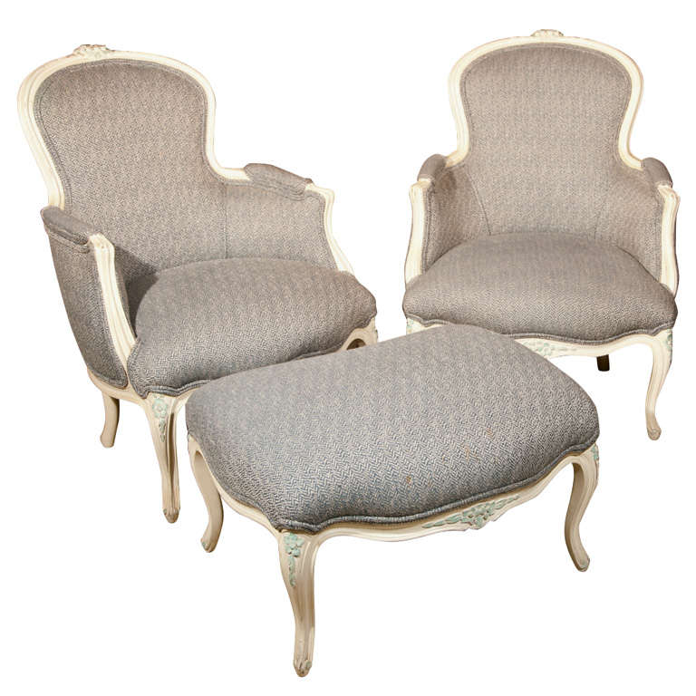 French Duchesse Brisee Bergere Chairs