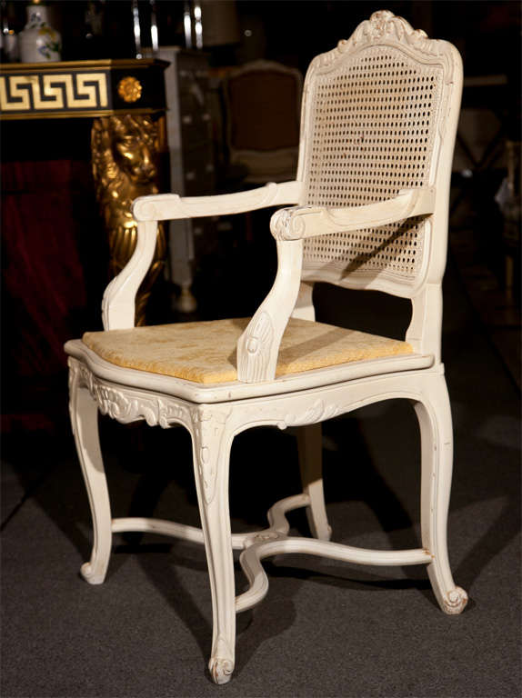 Set Of Six French Louis XV Style Dining Chairs By Jansen For Sale At 1stdibs