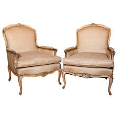 Pair of Bergeres Chairs by Jansen