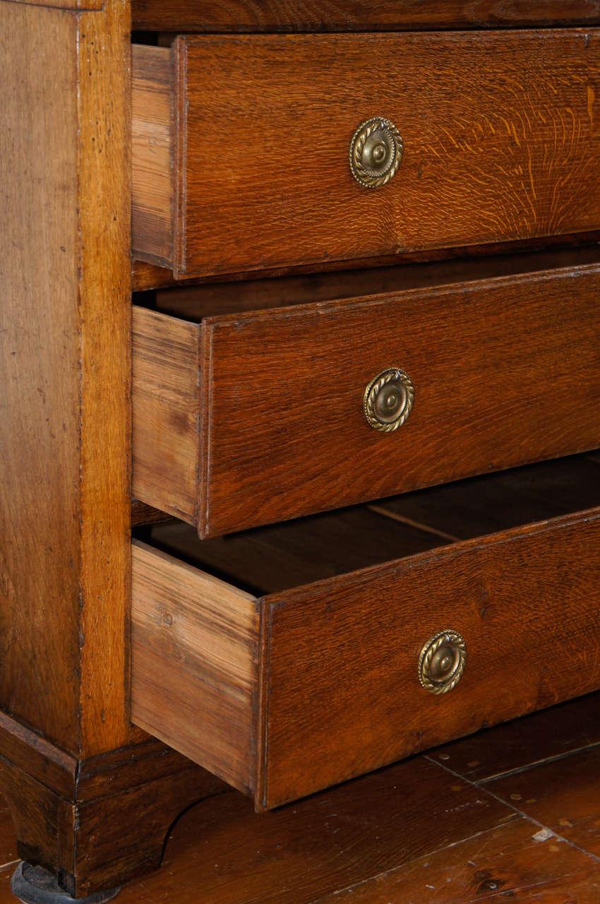 Fall Front Desk ~ Friesian inlaid oak fall front desk or bureau denmark