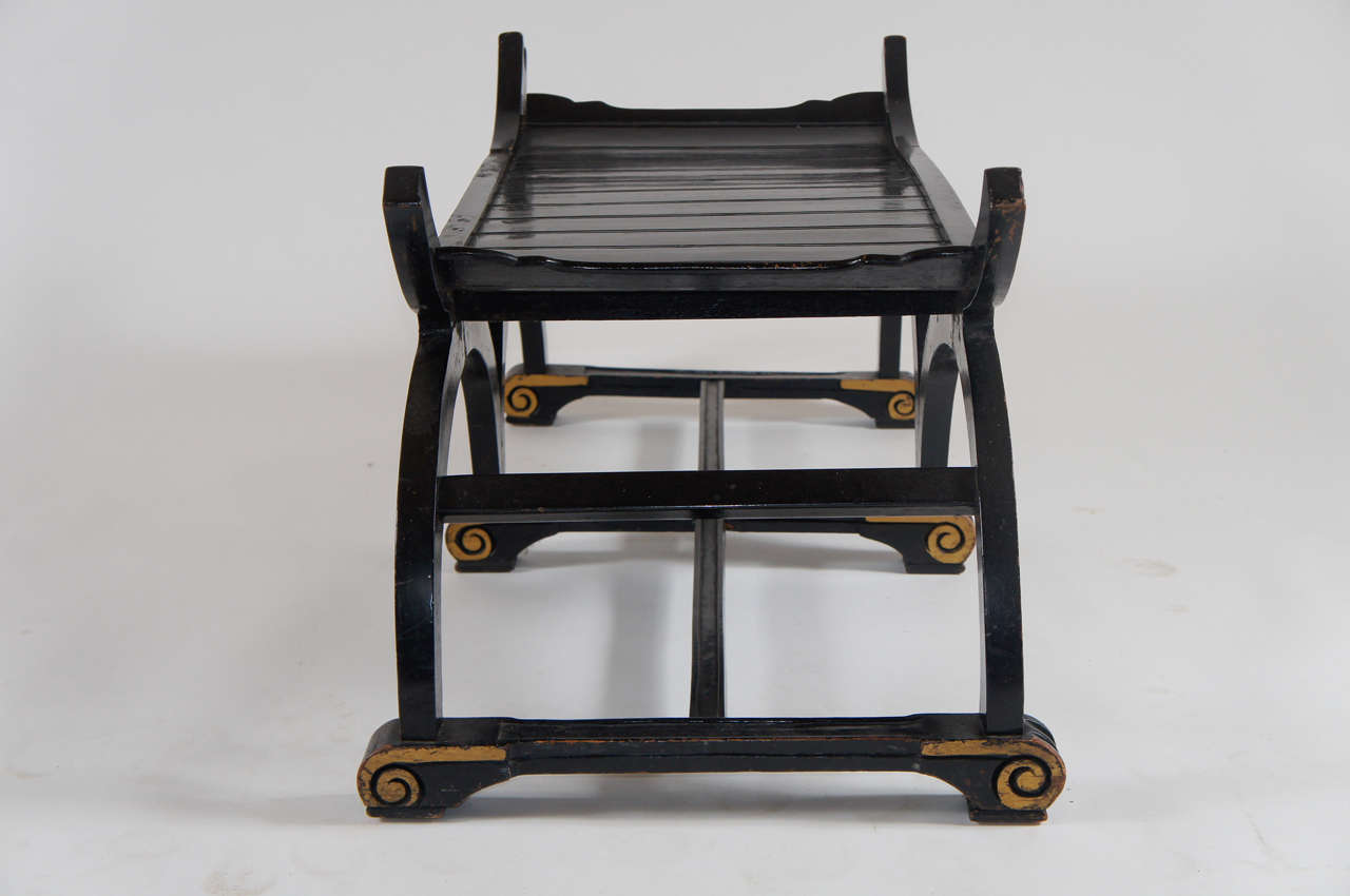 Russian Ebonized And Parcel Gilt Hall Bench Or Low Table Circa 1860 At 1stdibs