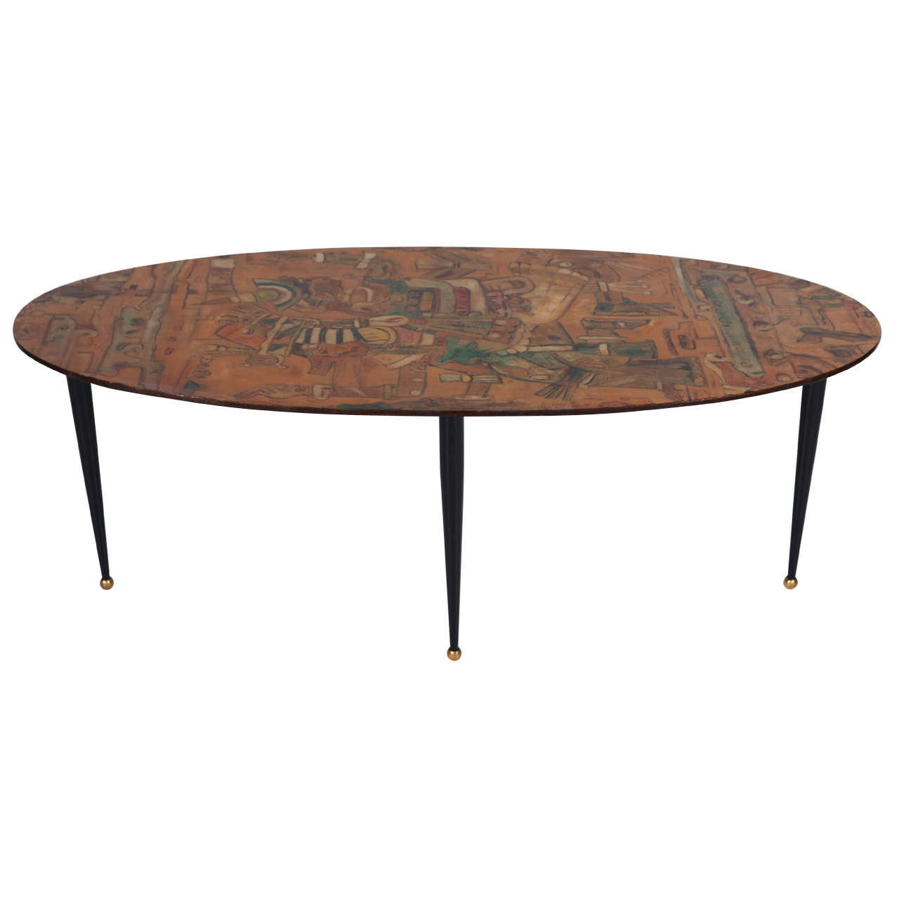 Amazing italian 1950s modernist coffee table at 1stdibs for Amazing coffee tables
