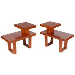 Sleek Pair of Telephone Tables