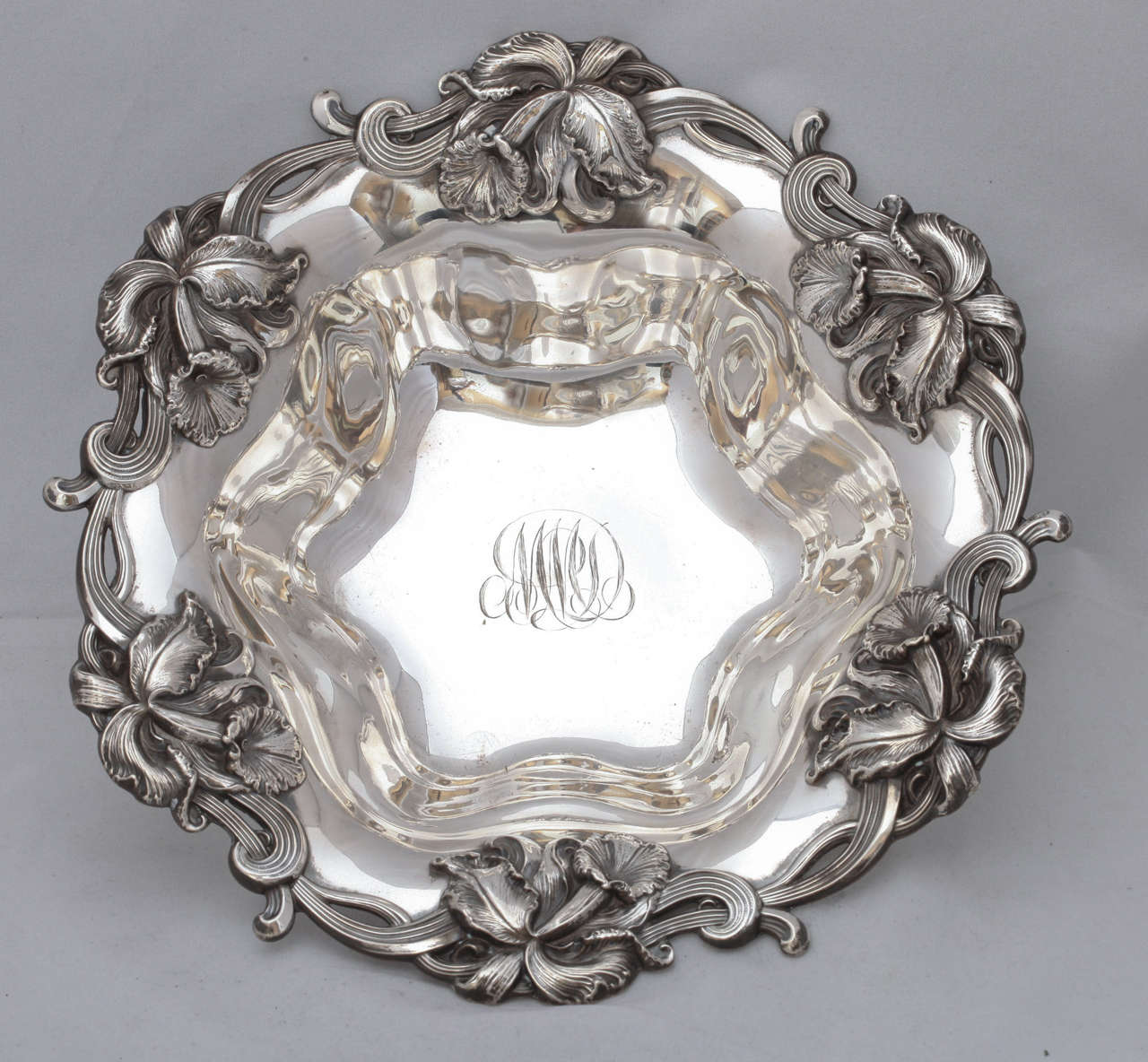 Art Nouveau Sterling Silver Centerpiece Or Serving Bowl At