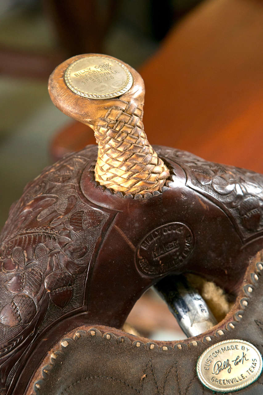 Show Saddle with Stand - Billy Cook Signature For Sale at ...