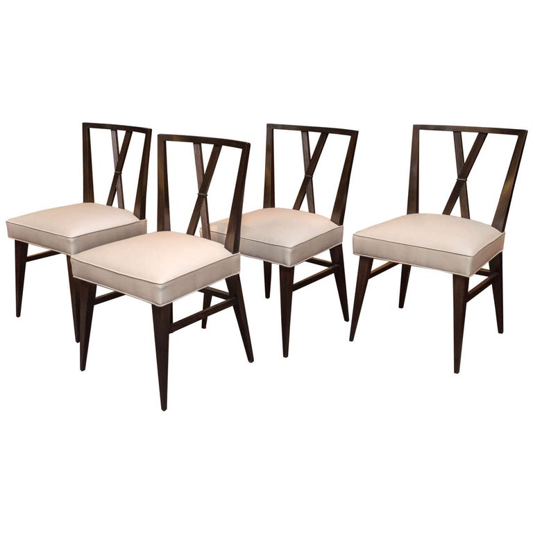Set of Eight Tommi Parzinger Dining Chairs For Sale