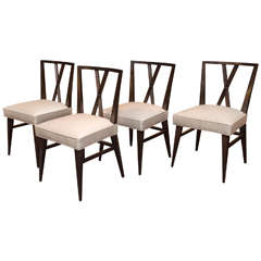 Set of Eight Tommi Parzinger Dining Chairs