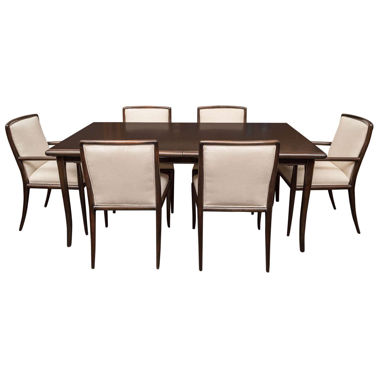 T.H. Robsjohn-Gibbings Dining Set
