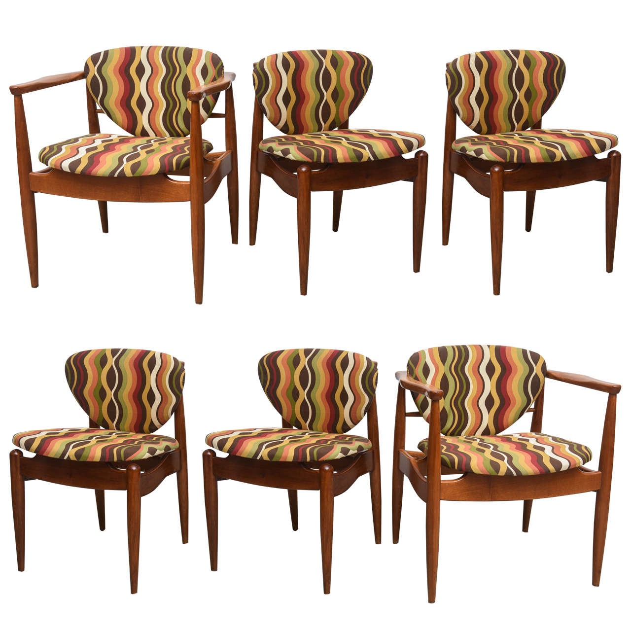 Sensational Danish Set Of Six Teak Dining Chairs 1960S Ocoug Best Dining Table And Chair Ideas Images Ocougorg