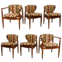Set of Six Danish Teak Dining Chairs, 1960s Denmark
