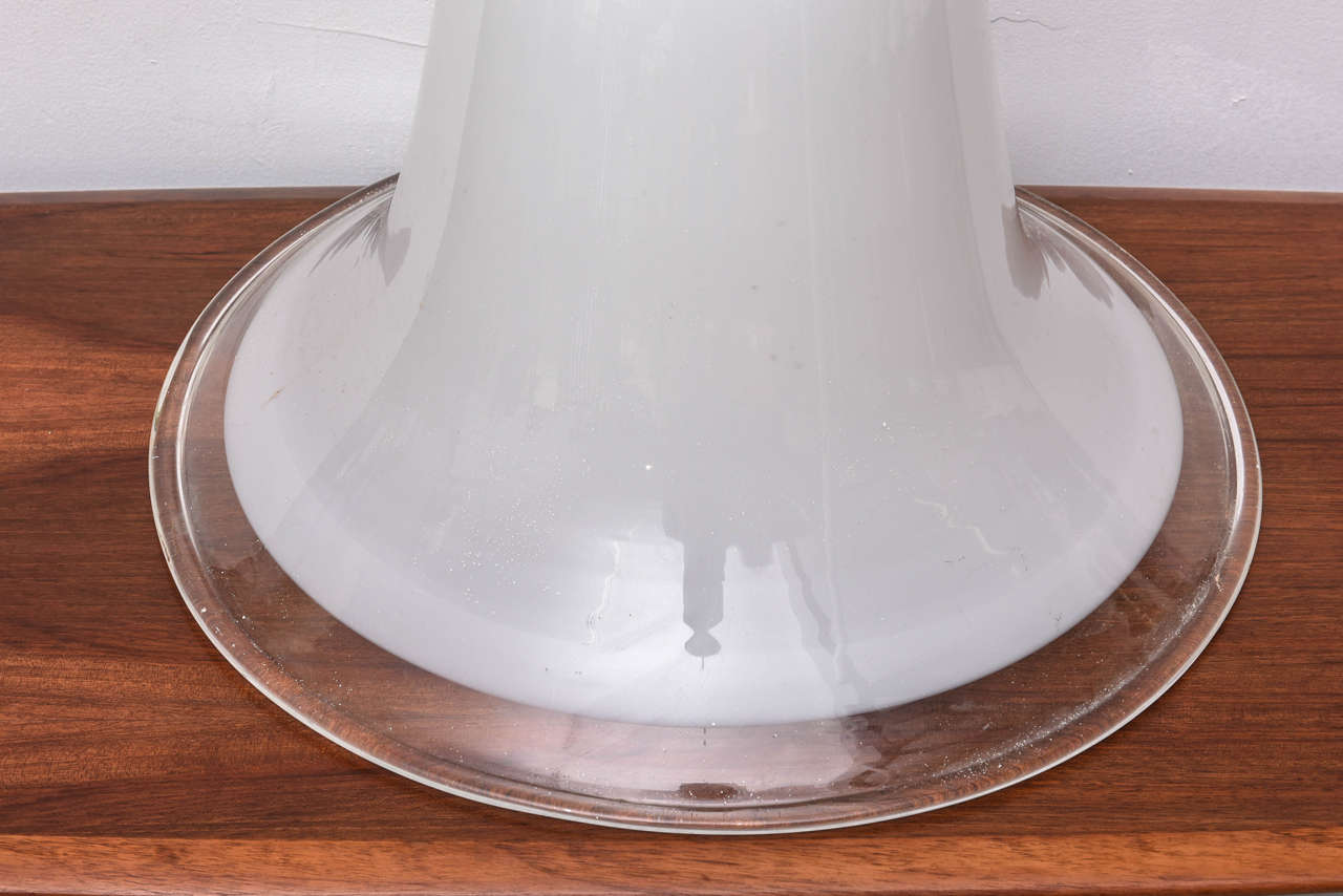 Murano Vintage Overhead Bank Lamp from 1940s Italy In Good Condition For Sale In Miami, FL