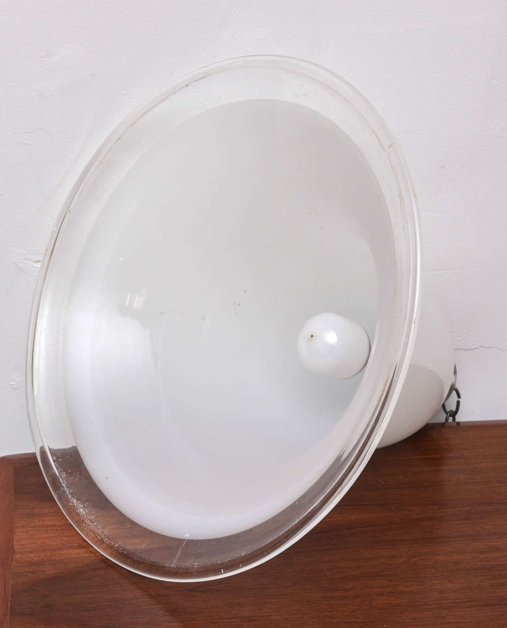 Glass Murano Vintage Overhead Bank Lamp from 1940s Italy For Sale