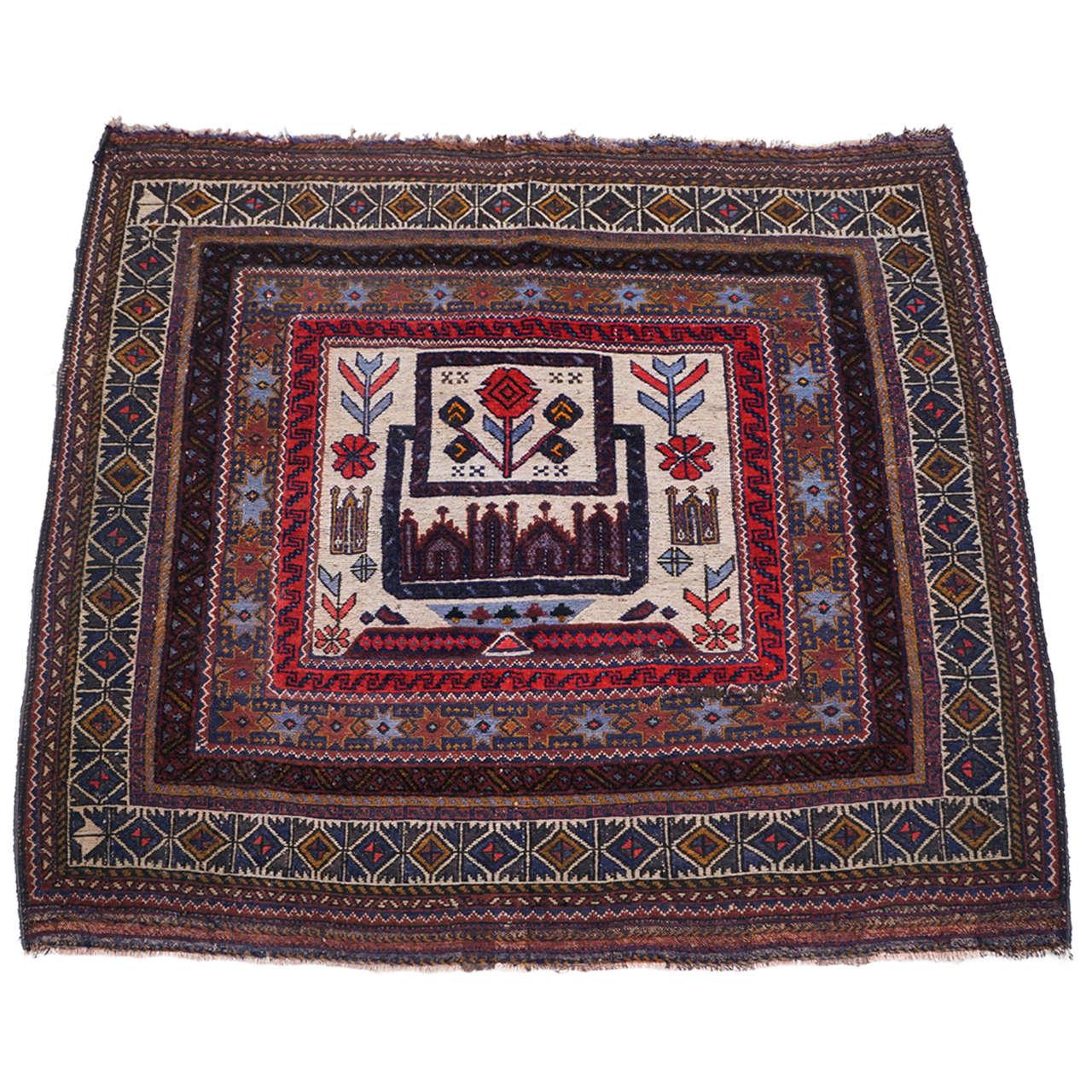 Throw Rugs On Sofas: Handmade Beautiful Throw Rug Or Carpet For Sale At 1stdibs