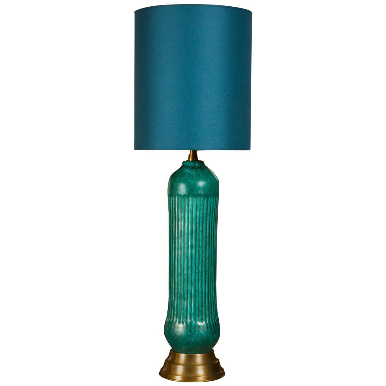 at l neck with furniture id lamps and turquoise lamp a modern century f brass table base socket of ceramic mid lighting pair