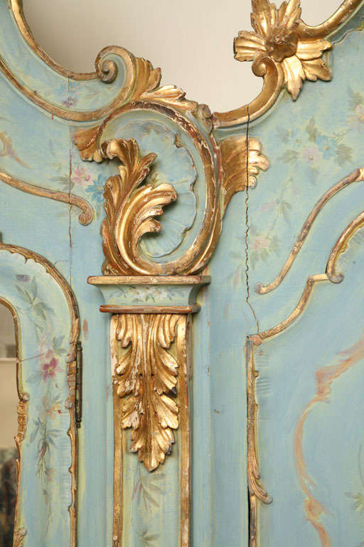 19th Century Venetian Painted Armoire 6