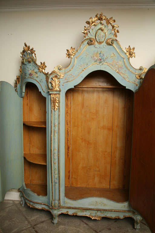 19th Century Venetian Painted Armoire 7