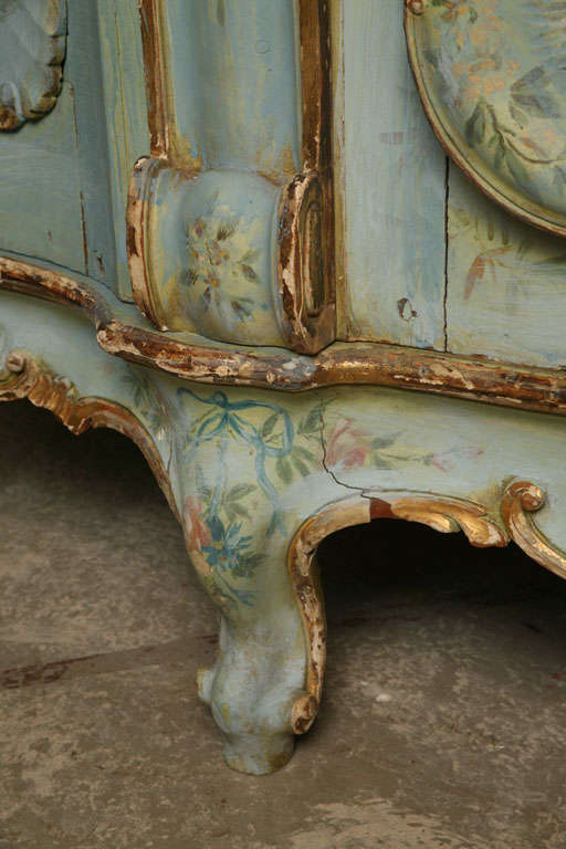 19th Century Venetian Painted Armoire 8