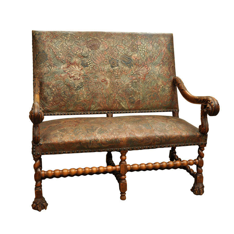 17th Century Louis XIV Walnut Settee