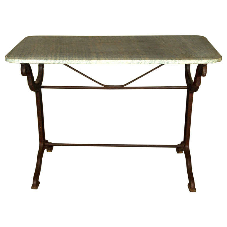 Cast Iron Conservatory Table Signed Toulouse For