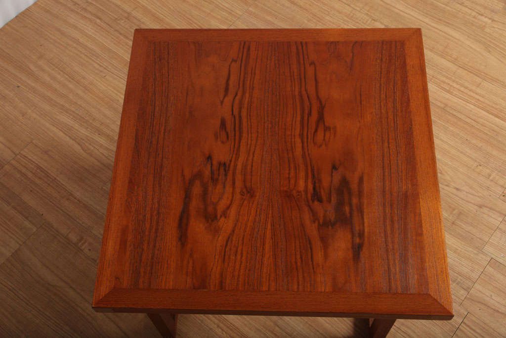 20th Century Danish Occasional Table with Inlaid Brass For Sale