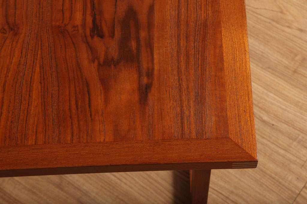 Danish Occasional Table with Inlaid Brass For Sale 1