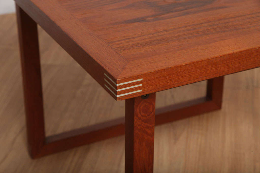 Danish Occasional Table with Inlaid Brass 6