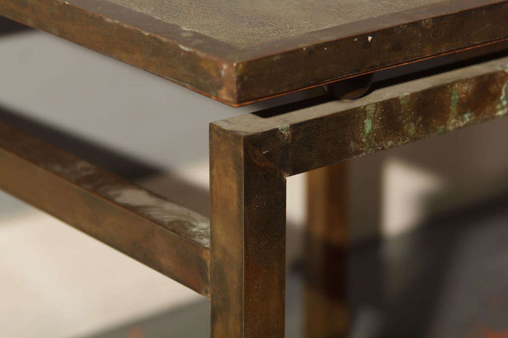 Mid-20th Century Unsigned LaVerne Side Table For Sale
