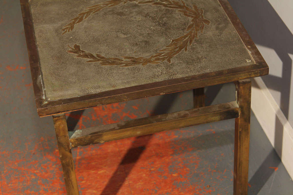Unsigned LaVerne Side Table For Sale 3