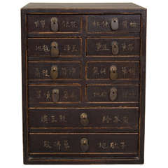 19th Century Apothecary Cabinet