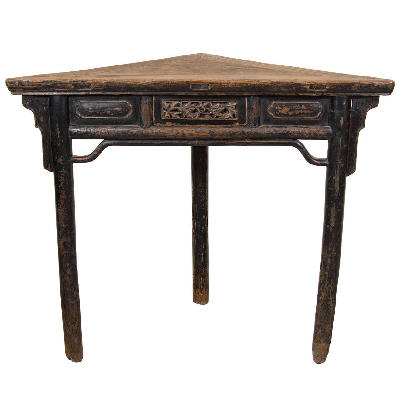 19th Century, Chinese Corner Table
