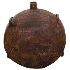 Large Antique Chinese Oil Canteen
