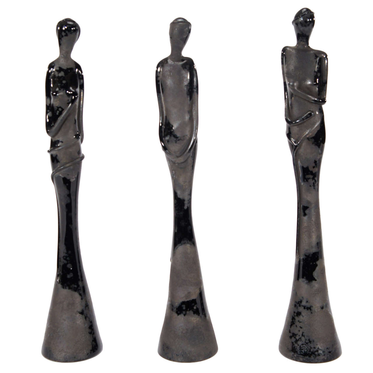 "Barovier 3 ""Scavo"" Female  Sculptures"