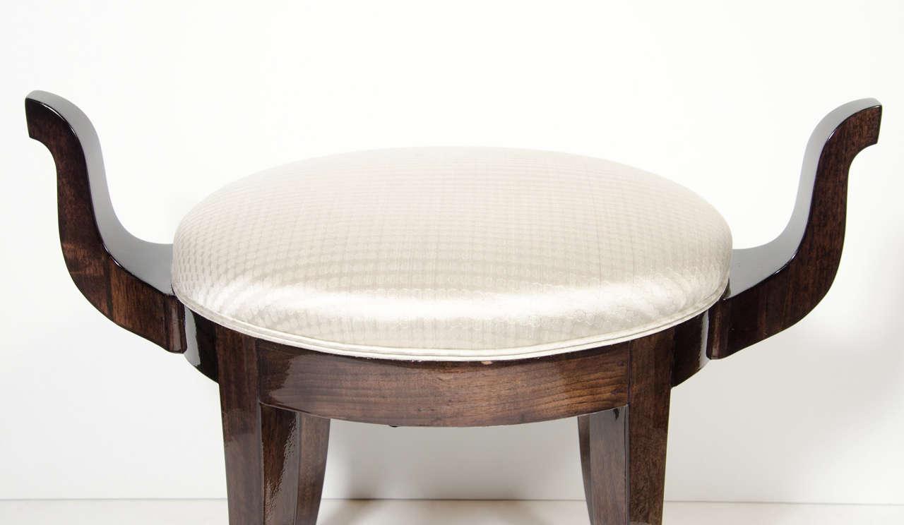 klismos stool ~ sculptural and elegant midcentury klismos style stool at