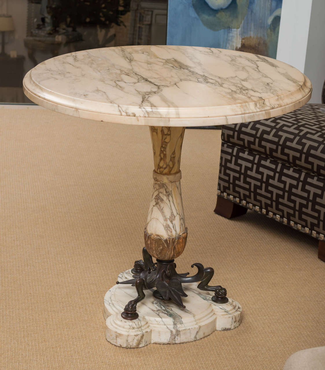 Mid-19th Century Highly Figural Marble and Bronze Table 2