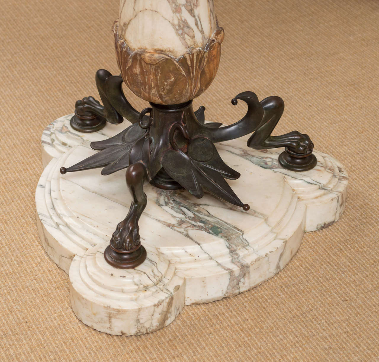 Mid-19th Century Highly Figural Marble and Bronze Table 3