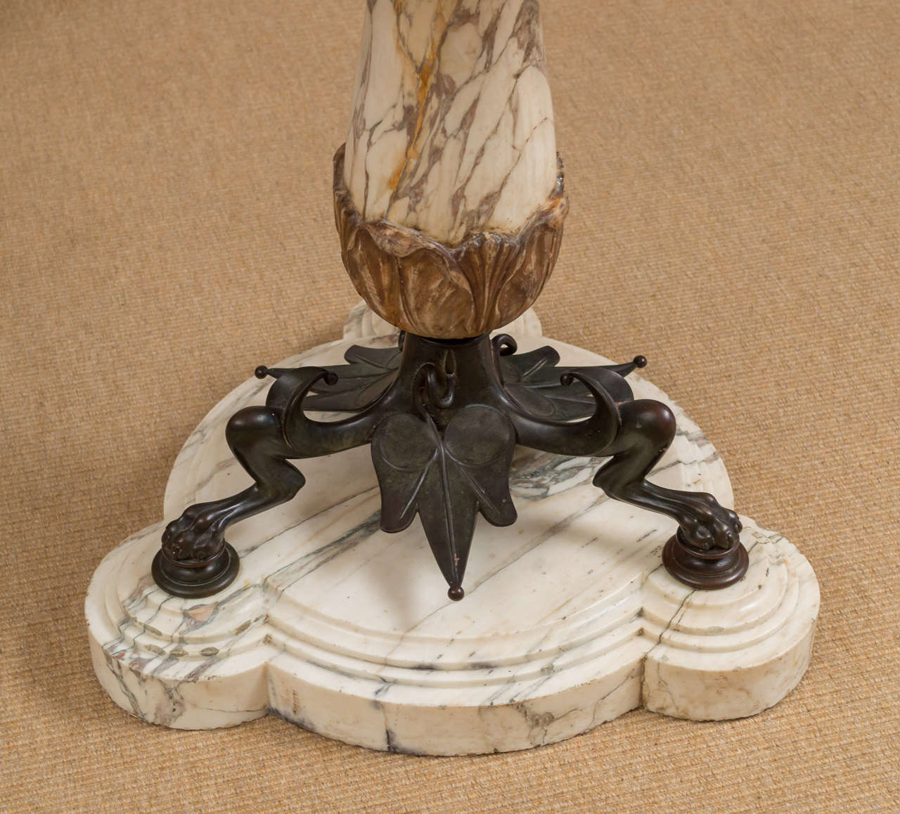 Mid-19th Century Highly Figural Marble and Bronze Table 6
