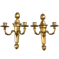 Pair of Gilt Bronze Caldwell Sconces