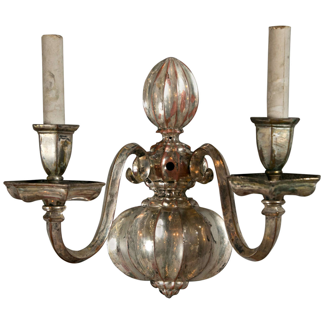 Set of Eight Silver Plated Caldwell Sconces