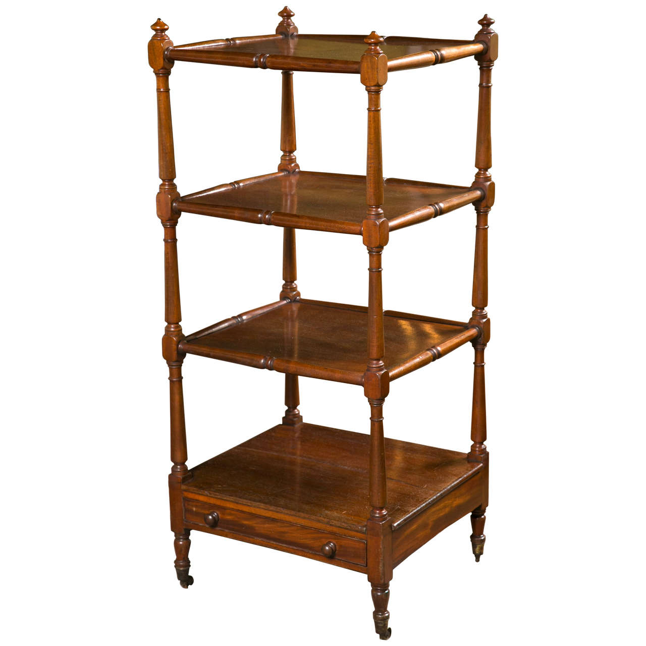 English etagere with drawer for sale at 1stdibs - Etagere 6 cases ...
