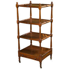 English Etagere with Drawer