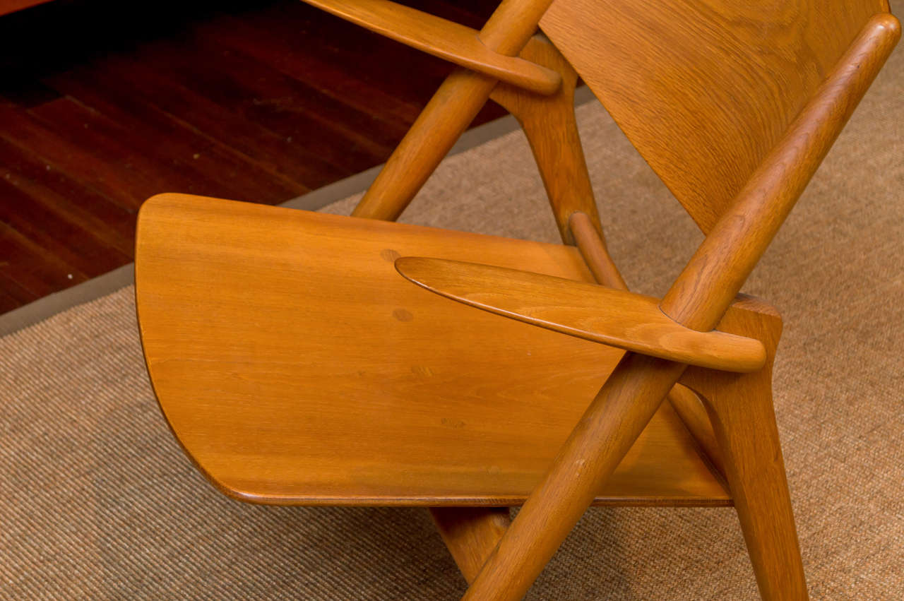 Hans J Wegner Sawbuck Chair In Excellent Condition For Sale In San Francisco, CA