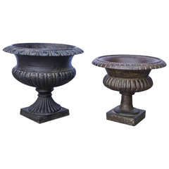 Midcentury Cast Iron Planters