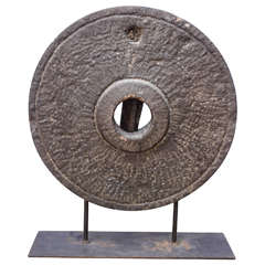 19th Century Millstone on a stand