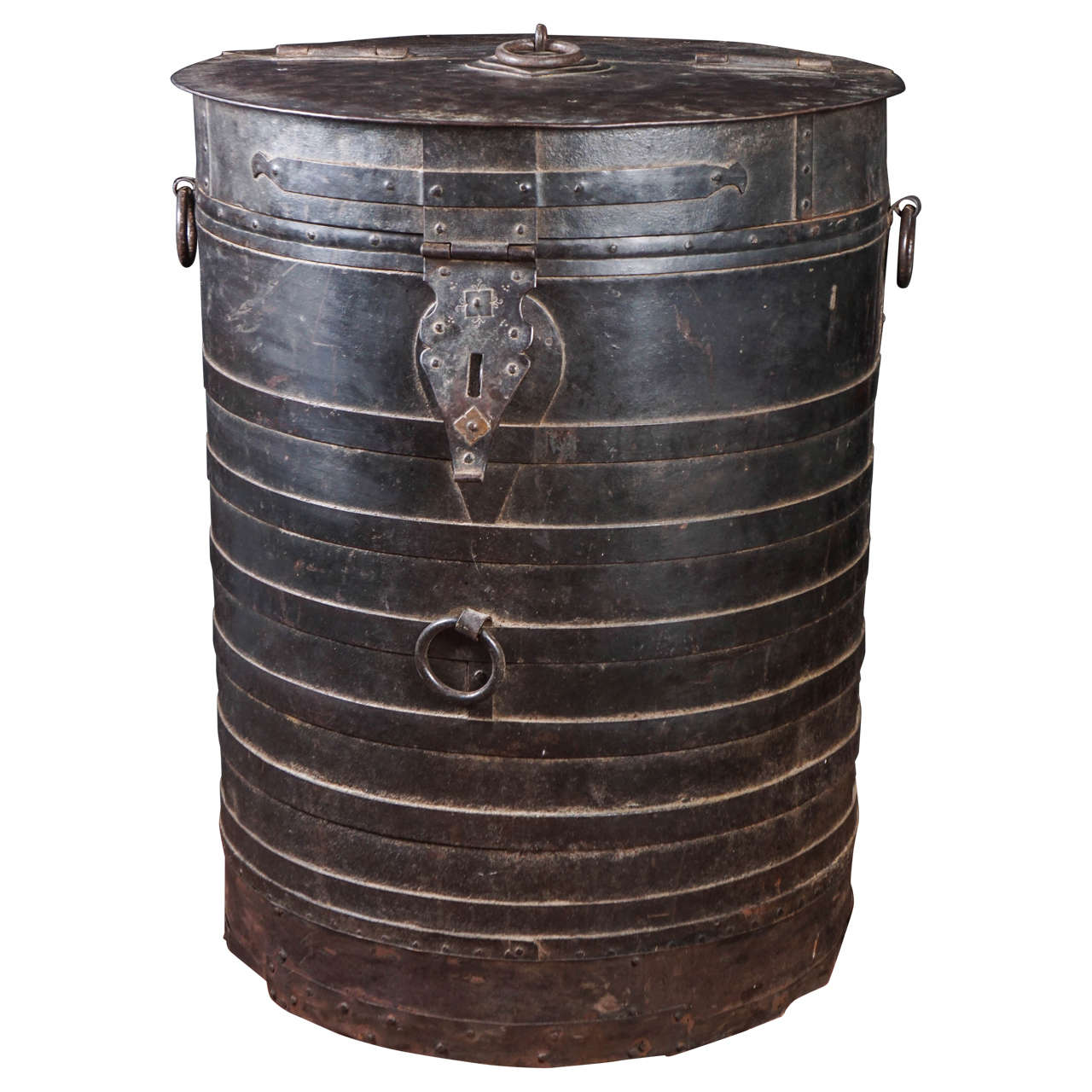 Mid Century Iron Industrial Storage Container For Sale at 1stdibs