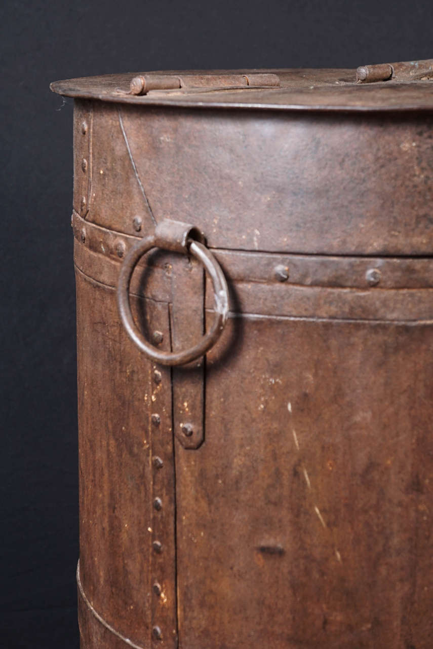 Midcentury Iron Industrial Storage Container For Sale 1