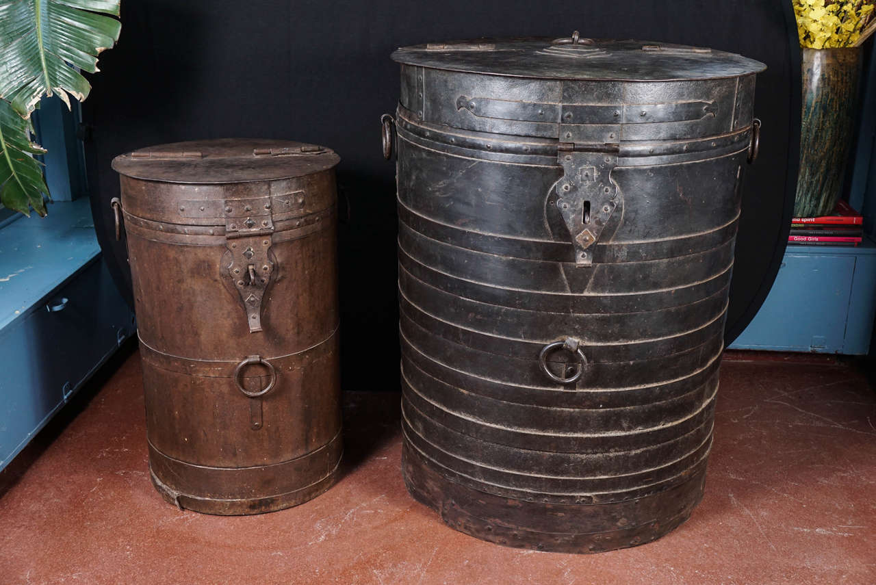 Midcentury Iron Industrial Storage Container For Sale 2